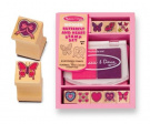 Melissa & Doug Butterfly & Heart Stamp Set