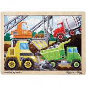 Melissa & Doug Construction Site Jigsaw - 12 pc- - Case of 2