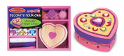 Melissa & Doug LCI3094 Wooden Heart Chest Decorate Your