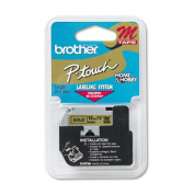Brother M831 Non-Laminated Tape Cartridge - 1.3cm x 7.9m - 1 x Tape - Golden