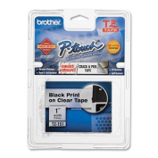 TZe Standard Adhesive Laminated Labeling Tape, 1w, Black on Clear