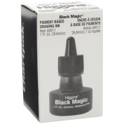 Higgins Black Magic Waterproof India Ink, 30ml, Black