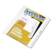 "80000 Series Legal Exhibit Index Dividers, 1/25 Cut Tabs, Printed ""1""-""25"""