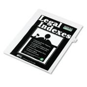 """80000 Series Legal Index Dividers, Side Tab, Printed """"33"""", 25/Pack"""