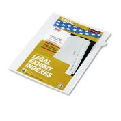 """Kleer-Fax 90000 Series Legal Exhibit Index Dividers, Side Tab, Printed """"5"""", 25/Pack"""
