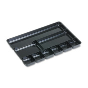 Rubbermaid 45706 Regeneration 9-Section Drwr Organizer Plastic Black