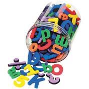 Wonderfoam Magnetic Alphabet Letters, Assorted Colors. 105/Pack