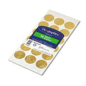 Self-Adhesive Embossed Seals, Gold, 54/Pack