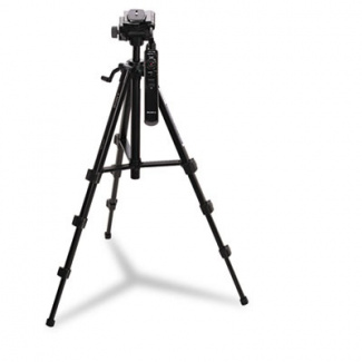"Remote Control Camcorder Tripod, 19"" to 57 3/4"", Gray"