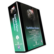 Aurora Products Earth View Round Ring Presentation Binder, 7.6cm Capacity, Black