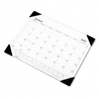 One-Color Refillable Monthly Desk Pad Calendar, 22 x 17, 2012