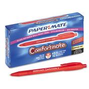 Paper Mate 6320187 ComfortMate Ballpoint Retractable Pen Red Ink Medium Dozen