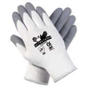 Ultra Tech Foam Seamless Nylon Knit Gloves, Medium, White/Gray, Pair