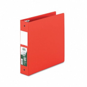 Samsill Antimicrobial Round Ring Binder with Labelholder, 5.1cm , Red