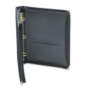 """Classic Collection Zippered Ring Binder, 11 x 8-1/2, 1-1/2"""" Capacity, Black"""