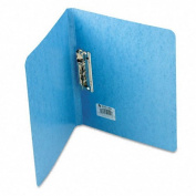 "PRESSTEX Grip Punchless Binder With Spring-Action Clamp, 5/8"" Cap, Light Blue"