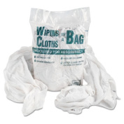 Multipurpose Reusable Wiping Cloths, Cotton, White, 5lb Box