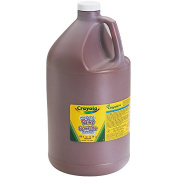 . Washable Paint, Brown, 1 gal