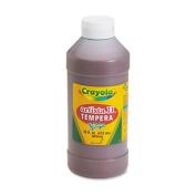 Crayola Artista II Tempera Paint, 470ml Bottle, Brown; no. BIN311507