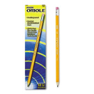 Oriole Woodcase Presharpened Pencil, HB #2, Yellow Barrel, 12/Pack