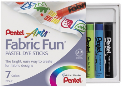 Pentel Fabric Fun Pastel Dye Sticks 7 Colours