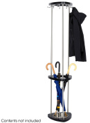 Safco 4214BL Mode Wood Costumer with Umbrella Rack in Black