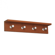 Contempo Wood Wall Rack, 4-Hook, Cherry