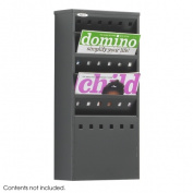 Steel Magazine Rack, Five Compartments, 10w x 4d x 20-1/2h, Black