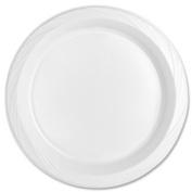 Tablemate TM10644WH Plastic Dinnerware, Plates, 26cm dia, White