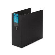 """Durable Binder with Two Booster EZD Rings, 5"""" Capacity, Black"""