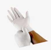 Medline Industries- INC. MIICUR8104 Latex Exam Glove- Powder Free- Small- White