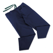 ComfortEase Scrub Pants, Washable, Poly/Cotton, Med, Midnight Blue