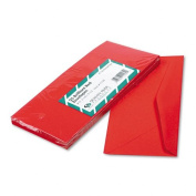 Quality Park Coloured Envelope, Traditional, #10, Red, 25 per Pack