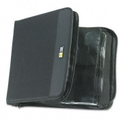 CD/DVD Wallet, Holds 144 Disks, Black