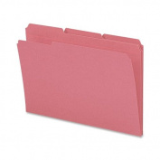 Smead File Folder, Reinforced 1/3-Cut Tab, Legal Size, Pink, 100 per Box