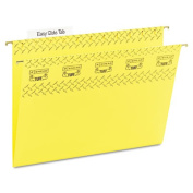 Tuff Hanging Folder with Easy Slide Tab, Letter, Yellow, 18/Pack