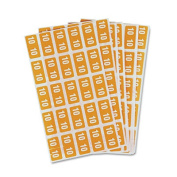 Year 2010 End Tab Folder Labels, 1/2 x 1, Yellow/White, 250 Labels/Pack