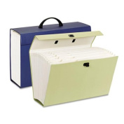 Portable Case File, 19 Pockets, Legal, Assorted colors