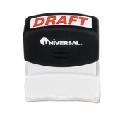 Universal Message Stamp, draught, Pre-Inked/Re-Inkable, Red
