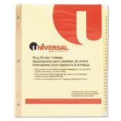 Preprinted Plastic-Coated Tab Dividers, 31 Numbered Tabs, Letter, Buff, 31/Set