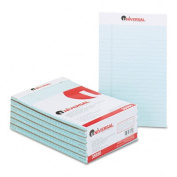 Colored Perforated Note Pads, Narrow Rule, 5 x 8, Blue, 50-Sheet, Dozen