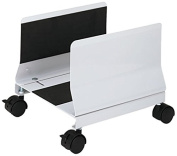 Innovera 54000 Metal Mobile CPU Stand, 10-1/4w x 10-5/8d x 9-3/4h, Light Grey