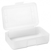 Gem Polypropylene Pencil Box with Lid, Clear, 8 1/2 x 5 1/2 x 2 1/2