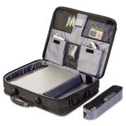 "Blacktop 17"" Deluxe Laptop Case, Polyester, 18-1/2 x 5-1/2 x 16-1/4, Black"