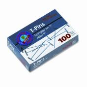 ADVANTUS Gem 3.8cm T-Pins, 100 per Box