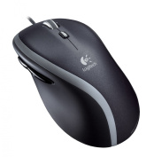 Logitech M500 Corded Mouse, Three-Button/Scroll, Black/Silver