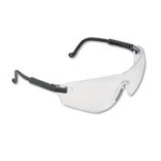 Falcon Wraparound Frameless Safety Glasses, Black Plastic Frame, Clear Lens