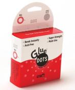 Glue Dots 0.5cm Mini Dot Roll, 250 Clear Dots