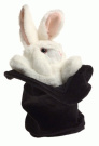 Rabbit in Hat Hand Puppet by Folkmanis - 2269