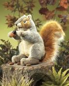 Plush Grey Squirrel Puppet 30cm by Folkmanis - 2553FM